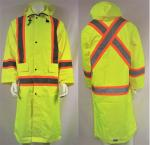 HI-VIS TRAFFIC SAFETY LONG RAIN COAT
